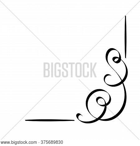 Calligraphic And Page Decoration Design Elements. Vector Flourishes. Swirl, Scroll Or Divider.