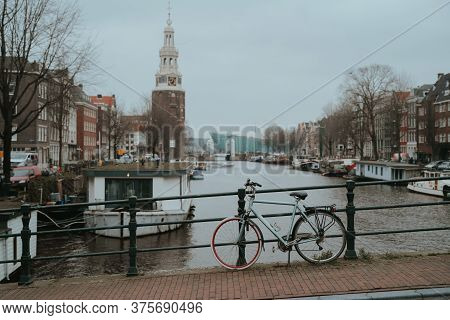 Amsterdam City Canal Old Town. Netherlands (holland)