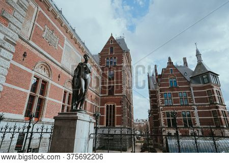Amsterdam, Netherlands - March 7, 2020: Exterior Of Rijksmuseum In Amsterdam