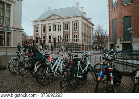 The Hague, Netherlands - March 8, 2020: Den Haag City Old Town, Netherlands (holland)