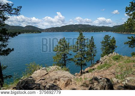 Pactola Lake And Reservoir In The Black Hills Of South Dakota In The Summer