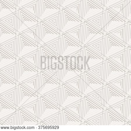 Seamless Modern Graphic Triangular, Texture Pattern. Continuous Classic Vector Triangle Decor Textur