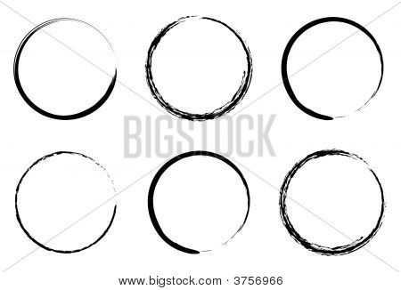 grunge circles for coffee or black paint poster