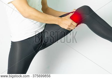 Closeup On Man With Leg Pain,medical Concept
