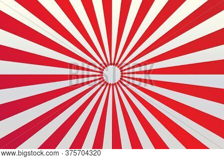 Red And White Spiral Background. Red And White Background. Red And White Vector Background.red And W