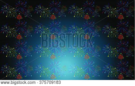 Digital Textile Design Of Crackers On Abstract Background