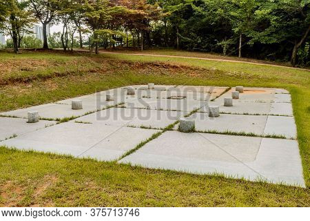 Concrete Impression Of Ancient Structure Unearthed At Prehistoric Archeological Site In Daejeon, Kor
