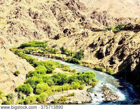 Panjshir Valley In Eastern Afghanistan, Beautiful Nature In Afghanistan Landscapes Selective Focus