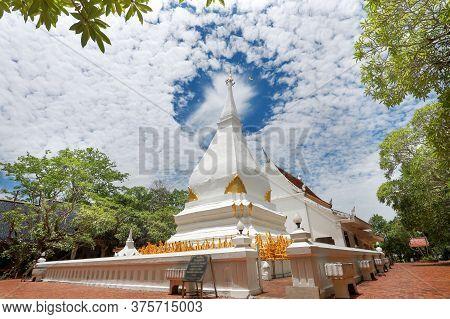 Phra That Si Song Rak (dan Sai, Loei) , Memorial Of Ralationship Of Thai Laos.  Phrathat The Famous