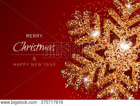 Christmas red background with Shining gold Snowflakes. Christmas. Christmas Vector. Christmas Background. Merry Christmas Vector. Merry Christmas banner. Christmas illustrations. Merry Christmas Holidays. Merry Christmas and Happy New Year Vector Backgrou