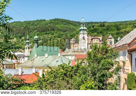 View At The Roofs Of Houses In Banska Stiavnica - Slovakia