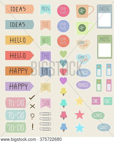 Planner Stickers Packs For Decorate Planners, Create Craft Items, Is Digital Use And Print