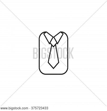 The Tie Icon. Necktie And Neckcloth Symbol. Flat Vector Illustration Eps10