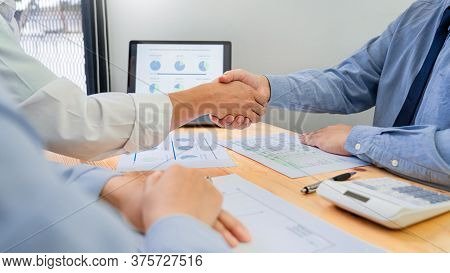Asian Businessman Insurance Broker Or Financial Advisor Consulting Young Millennial Couple Clients C