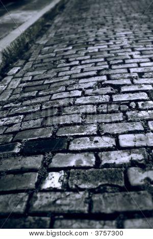 Blue Brick Paving Stones Street