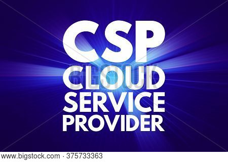 Csp - Cloud Service Provider Acronym Technology Business Concept Background