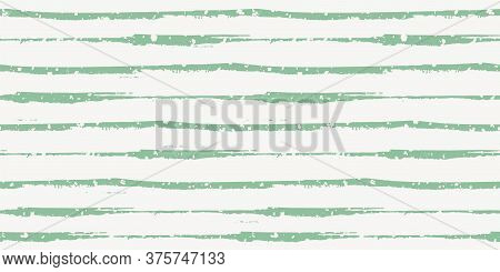 Vector Border Of Thin Horizontal Painterly Blue Grunge Stripes With Overlay Snowflake Texture. Color