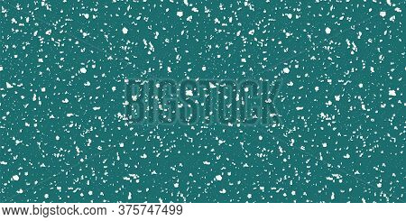 Vector Intricate Hand Crafted Snowflake Terrazzo Border. Seamless Repeat Banner Blue White Backdrop.