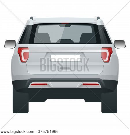 Compact Crossover, Suv, 5-door Station Wagon Car. Template Vector Isolated.