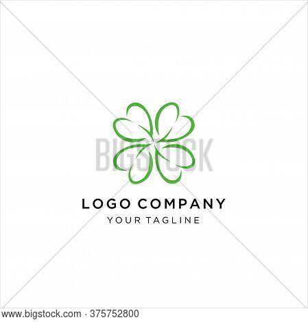 Clover Leaf Four Logo Vector Download, Leaf Clover Icon Design Vector