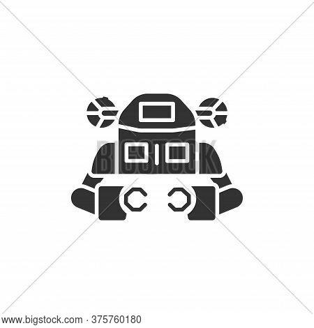 Underwater Robot Black Glyph Icon. Aquanaut, An Autonomous Electric Submarine. Innovation In Technol