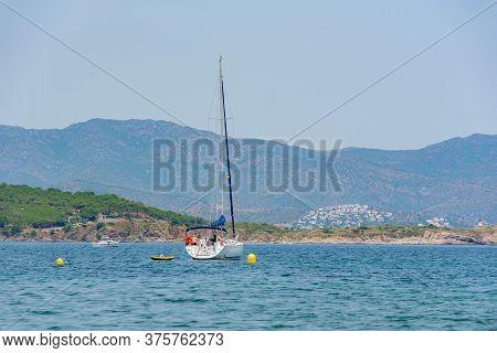 Port De La Selva, Spain : 9 July 2020 : View Of Port De La Selva, One Of The Most Touristic Villages