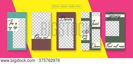 Modern Stories Vector Background. Online Shop Rich Vip Graphic Advert. Modern Sale, New Arrivals Sto