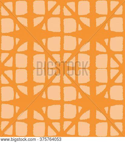 Japanese Tie Dye Seamless Pattern. Deco Arc Curve Design Luxurious Japanese Clothes Texture. Geometr