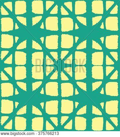Japanese Tie Dye Seamless Pattern. Retro Shibori Seamless Pattern. Geo Shell Shape Pattern Bohemian