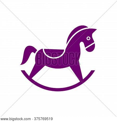 Horse Toy Icon Vector. Flat Icon Isolated On The White Background. Editable Eps File. Vector Illustr