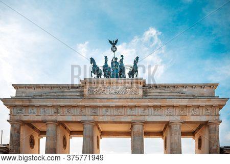 Brandenburg Gate (Brandenburger Tor) famous landmark in Berlin