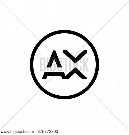 Ax Logo Design Business Typography Vector Template. Creative Linked Letter Ax Logo Template. Ax Font
