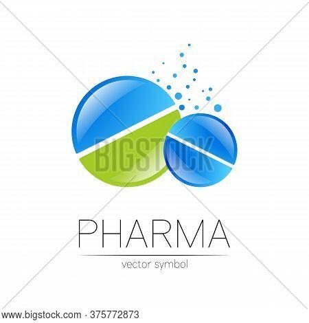2 Pharmacy Vector Symbol For Pharmacist, Pharma Store, Doctor And Medicine. Modern Design Vector Log