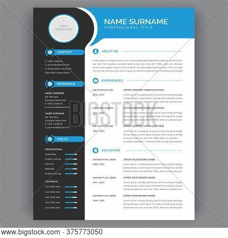 Cv / Resume Template. Minimalist Curriculum Vitae Cv Resume Template Layout - Stylish Dark Gray And