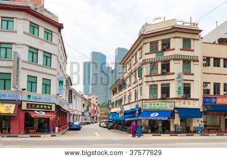 Street In Colonial District, Singapore