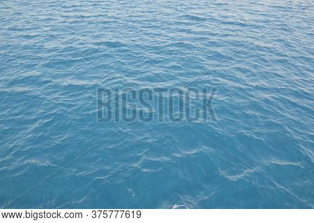 Texture Of Green-blue Sea Water In The Aegean