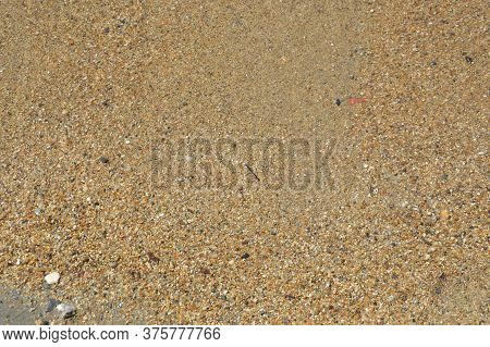 Texture Of The Sea Shore Of Stones And Pebbles The Aegean
