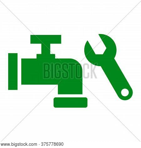 Plumbing Vector Icon On White Background. Flat Vector Plumbing Icon Symbol Sign From Modern Tools Co