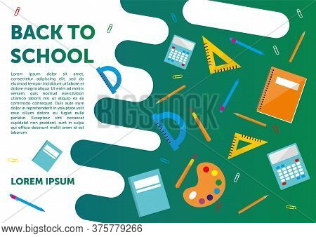 Back To School And Education Template Banners Set. Modern Flat Style Design Vector Illustration Of B