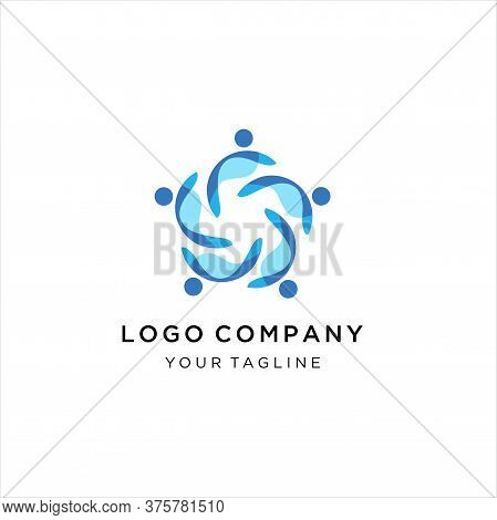People Comunity Logo,for Comunity People And Busines Logo Simple Modern