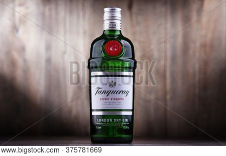 Bottle Of Tanqueray Gin Product Of Diageo