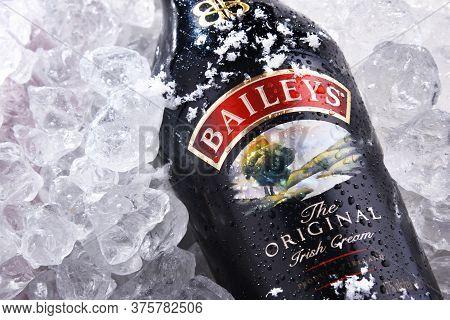 Bottle Of Baileys Irish Cream In Crushed Ice