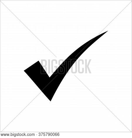 Tick Icon With Black Color Ilustration About Truth