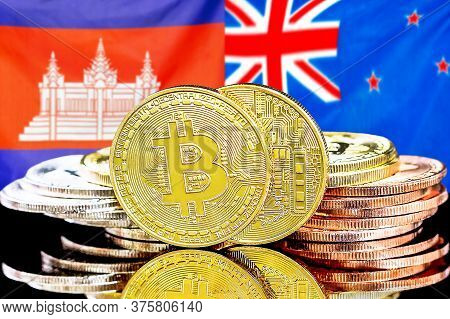 Concept For Investors In Cryptocurrency And Blockchain Technology In The Cambodia And New Zealand. B