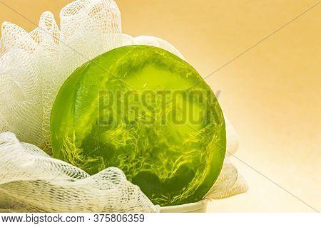 Green Glycerin Soap Handmade Washcloth Aromatherapy And Bathroom