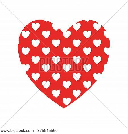 Hearts Background Inside Heart Flat Style Icon Design Of Love Passion And Romantic Theme Vector Illu
