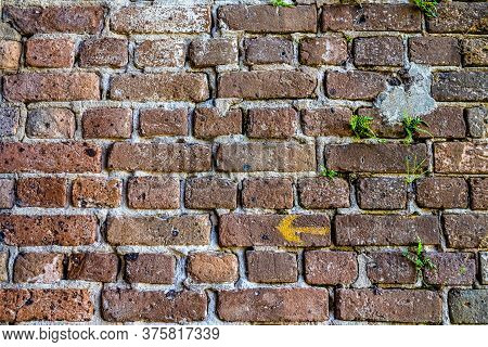 Old Brick Colored Brick Masonry Whith Natural Hydraulic Cement Background Textures From Fort Zachary