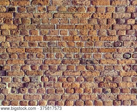 Old Brick Colored Brick Masonry Whith European Natural Cement Background Textures From Fort Zachary