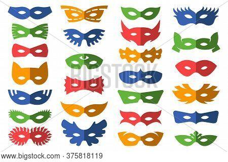 Set Of Masks For Masquerade. Vector Illustration