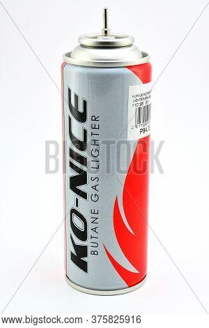 Manila, Ph - July 10 - Konice Butane Gas Lighter Can On July 10, 2020 In Manila, Philippines.